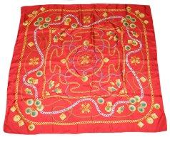 Bogner Foulard en soie rouge-doré soie
