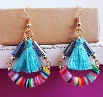 Boho Gypsy Vintage Ibiza Goldene Ohrringe Ohrhänger ungetragen