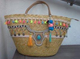 Bolso tipo cesta multicolor