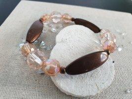 Boho Perlen Stein Armband Rose Hippie Neu Schmuck Armschmuck