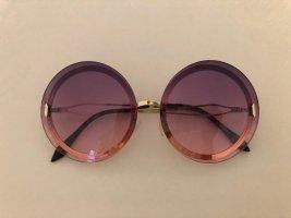 Lunettes bleu violet-rose