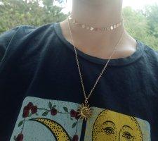 Boho Vintage Halskette Chocker in Gold