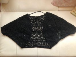 Rainbow Knitted Bolero black lace