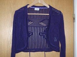 Street One Cardigan en crochet violet coton