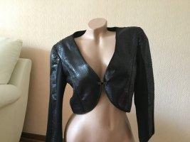 Biba Korte blazer zwart Polyester