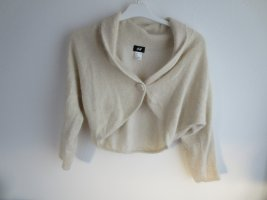 H&M Knitted Bolero natural white