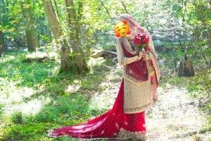 Bollywood Indische Pakistanische Kleidung 4 Teile Braut Henna Party Anlass