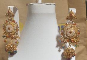 Aus Indien Wiszące kolczyki złoto-jasnobrązowy