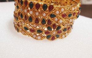 Aus Indien Bransoletka złoto-zielony