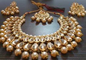 Aus Indien Collier doré