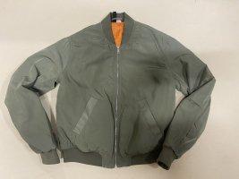 Devided von H&M Bomber Jacket green grey mixture fibre