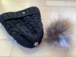 Bogner Fire + Ice Cappello in pelliccia nero-marrone-grigio