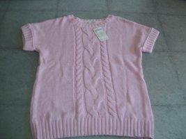 Bonita Sweter bez rękawów z cienkiej dzianiny różany Bawełna