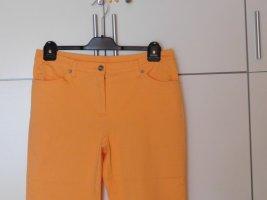 b.p.c. Bonprix Collection Spodnie 3/4 pomarańczowy Bawełna