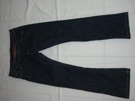 Cross Jeansy o kroju boot cut ciemnoniebieski Bawełna