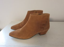 Cream Booties bronze-colored leather