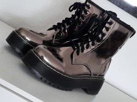 Made in Italy Lace-up Boots bronze-colored