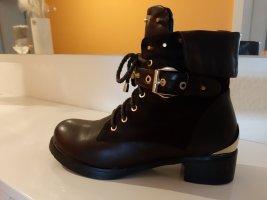 Booties black-brown