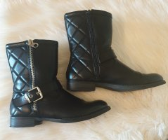 Graceland Booties black-silver-colored