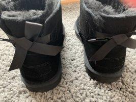 Esmara Botas de nieve negro Gamuza