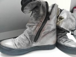 A.S.98 Booties dark grey-grey brown leather