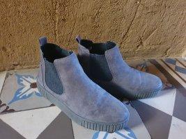 Marco Tozzi Chelsea Boot gris-gris foncé tissu mixte