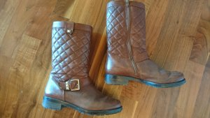 Boots / Kurzstiefel / Booties von HÖGL - cognac- Steppmuster - Gr. 6