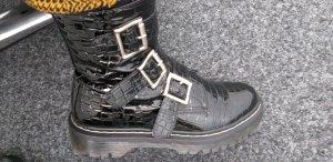 Botas con plataforma negro