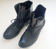Boots Schnür Stiefelette schwarz Gr 41