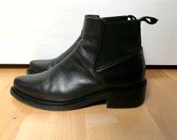 Boots spitz Leder Shoe Biz Copenhagen schwarz Ankle Boots Chelsea Boots
