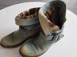 Boots/ Stiefelette Türkisblau Used-Look Größe 38 von Lazamani