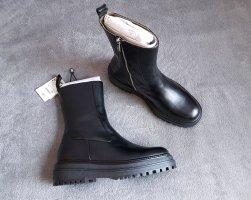 Boots Stiefelette zara Schwarz Blogger Gr. 42