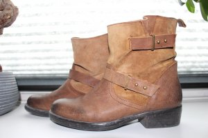 Akira Chelsea Boots brown-light brown leather