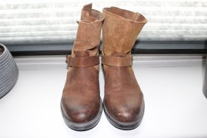 Akira Ankle Boots brown-light brown leather