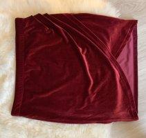 Gina Tricot Falda cruzada burdeos-rojo amarronado
