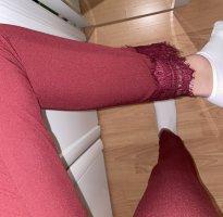 Bordeaux Stoffhose gerade geschnittene Hose mit spitze am Knöchel Details