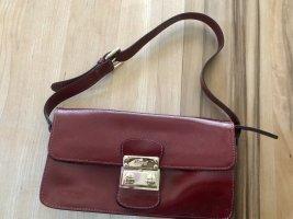 Bordeauxfärbige Lederhandtasche von ABRO, Neu