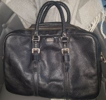 Hugo Boss Laptoptas zwart-goud Leer
