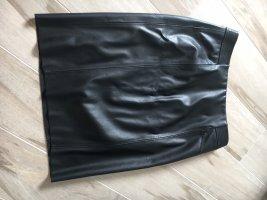 Hugo Boss Faux Leather Skirt black imitation leather
