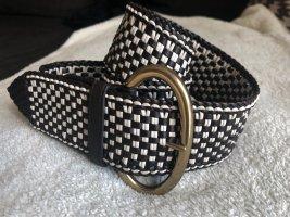 Hugo Boss Braided Belt dark brown-natural white
