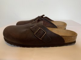 Birkenstock Sabots dark brown leather