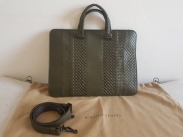 Bottega Veneta Porte-documents vert olive cuir
