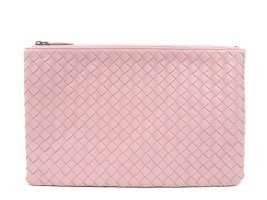 Bottega Veneta Intrecciato Leather Clutch Bag