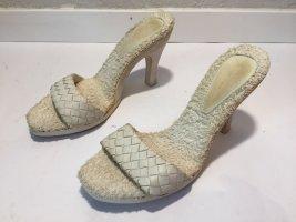 Bottega Veneta Escarpins beige clair