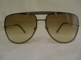 Bottega Veneta Sunglasses brown red leather