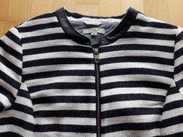 Boucle Streifen Blazer Jacke von Comma in blau weiß gestreift Gr. 44