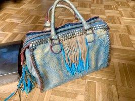 Liebeskind Handbag pale blue-gold-colored
