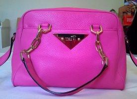 Bowlingbag Schultertasche pink/gold