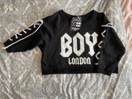 BOY LONDON Crewneck Sweater white-black