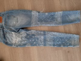 New Yorker Pantalone boyfriend bianco-azzurro